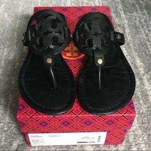 tory burch- 'miller' veg leather sandals